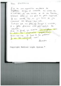 avis traitement des vergetures paris par LED Medical Light System ® CENTRE PILOTE (LBSA) © Melle COU.....