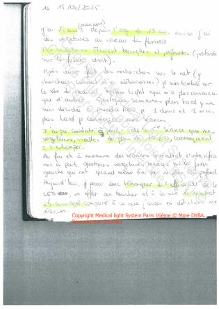 avis traitement vergetures paris - Ttraitement par LED Medical Light System ® CENTRE PILOTE (LBSA) © Mme DYB.....