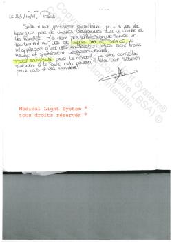 avis vergetures - traitement par LED Medical Light System ® CENTRE PILOTE (LBSA) ©  Mme G.....