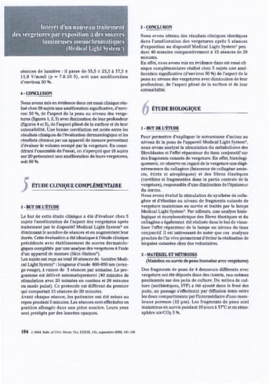 Etudes sur les vergetures : Etude complémentaire - Copyright Medical Light System©