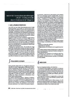 Traitement de l'Alopécie : mésothérapie Filorga + LED MLS®