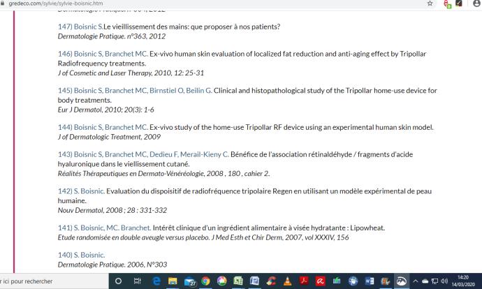 GREDECO, études référencées sur le site à partir de 2006 jusqu'en 2012 (2ème partie) : https://www.gredeco.com/sylvie/sylvie-boisnic.htm