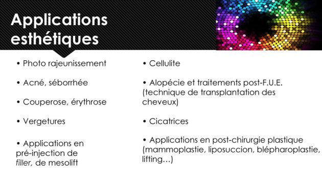 LED : Applications esthétiques