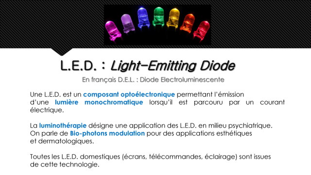 Qu'est-ce que c'est que les LEDs ? - Copyright Medical Light System ©