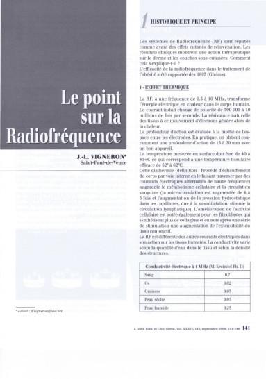 Le point sur la Radiofréquence : Historique et Principe - Copyright SKIN SURFING©