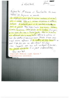 avis soins des vergetures paris - traitement par LED Medical Light System ® CENTRE PILOTE (LBSA) © Melle L.... 2ème Partie