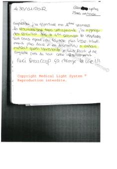 avis soins vergetures peau foncee - traitement par LED Medical Light System ® CENTRE PILOTE (Laboratoire LBSA) © Melle GRA.....