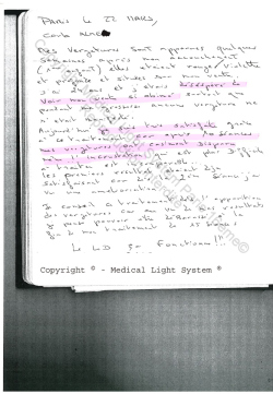 avis vergetures traitement -  traitement par LED Medical Light System ® CENTRE PILOTE (Laboratoire LBSA) © Melle DE A.....