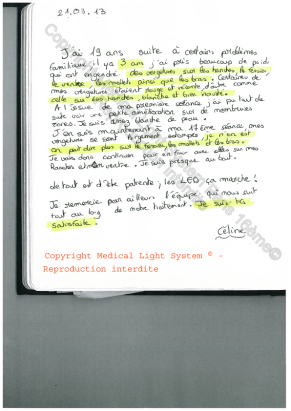 avis traitement vergetures paris par LED Medical Light System ® CENTRE PILOTE (LBSA) © Melle S.....
