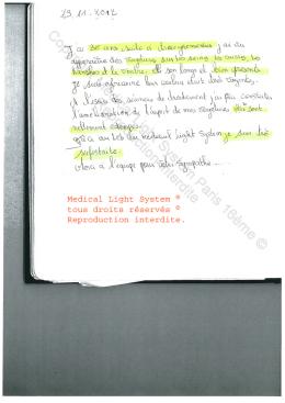 avis traitement vergetures paris - traitement par LED Medical Light System ® CENTRE PILOTE (LBSA) © Mme S....