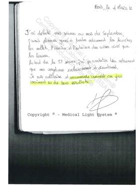 avis vergetures - traitement des vergetures paris par LED Medical Light System ® CENTRE PILOTE (LBSA) © Melle RU....