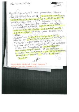 avis vergetures - traitement des vergetures paris par LED Medical Light System ® CENTRE PILOTE (LBSA) © Melle S....