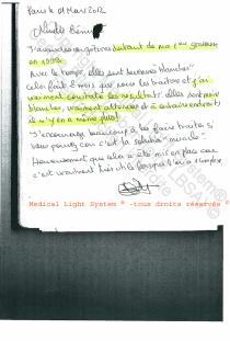 avis traitement des vergetures par LED Medical Light System ® centre Pilote © Mme BE..... 3ème partie