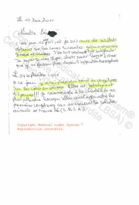 avis traitement des vergetures paris par LED Medical Light System® centre Pilote ©  - Mme BE..... 1ère et 2ème partie