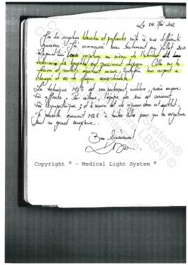 vergetures avis traitement paris par LED Medical Light System ® CENTRE PILOTE (LBSA) ©  Mme D.....