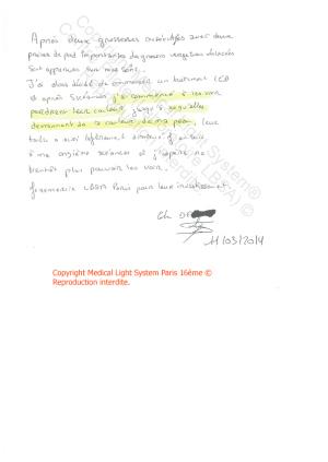 avis soins vergetures récentes paris -  traitement par LED Medical Light System® centre Pilote © Melle D....
