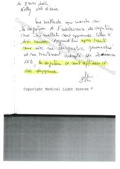 avis traitement vergetures paris blanches très anciennes -  traitement par LED Medical Light System ® centre Pilote © Mme BRE.....