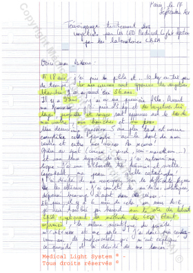 avis traitement vergetures paris - soins par LED Medical Light System ® CENTRE PILOTE (LBSA) © Mme CA....1ère Partie