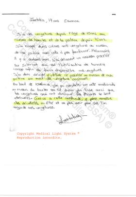 avis traitement vergetures paris - traitement par LED Medical Light System® centre Pilote © Melle L.....
