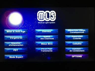 Exemples de protocoles validés et présents dans notre appareil, dévéloppés par Médical Light System® (possibilité d'AGRANDIR la photo sur PC, Mac et Tablette))