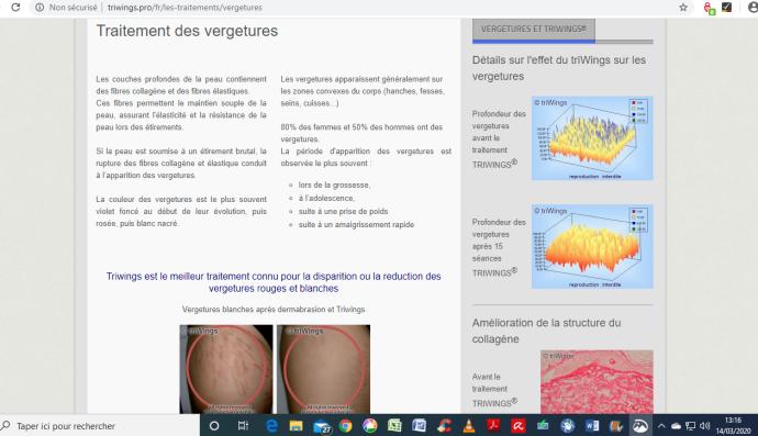 Triwings, fabriqué par Biophoton : allégation mensongère et parasitisme