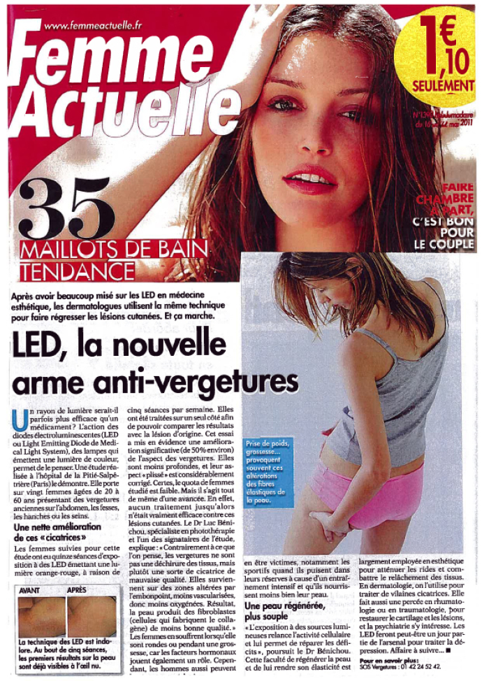 La nouvelle arme anti-vergetures, traitement  par LED Médical Light System®
