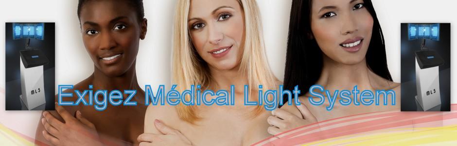 EXIGEZ Médical Light System : la seule technique de traitement des vergetures par LED aux résultats scientifiquement prouvés par une étude clinique et biologique, effectuée en milieu Hospitalier, à l'Hôpital Pitié Salpêtrière